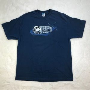 "Peanuts Graphic Blue Tee ""One Cool Daddy-O""  XL"